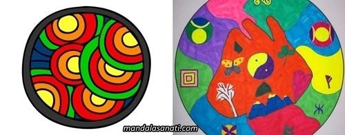 Anaokulu mandala örnekleri çizimi