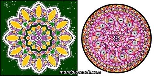 Güzel mandala örnekleri çizimi