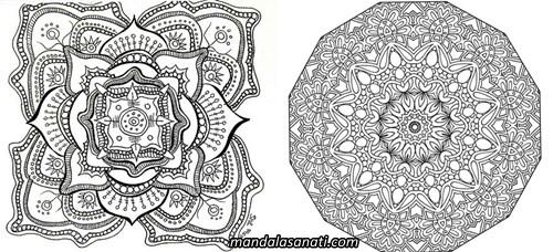 Mandala örnekleri çizimi Ile Huzur Bulun