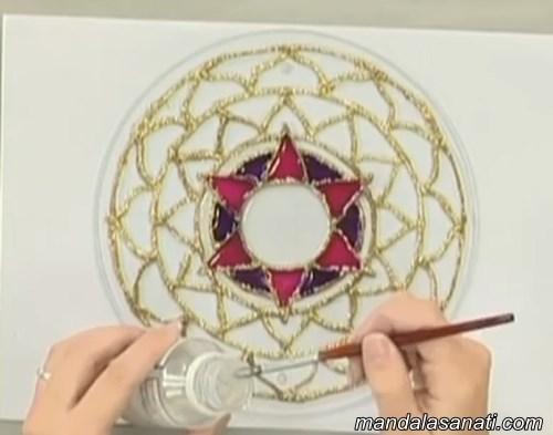 mandala boyama kontur yapımı