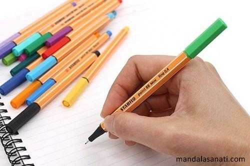 mandala çizimi kalem