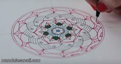 mandala nasıl yapılır, boyalı