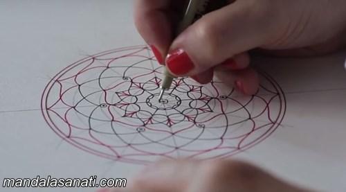 mandala motifi nasıl yapılır?