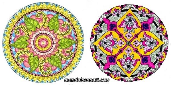 Mandala örnekleri çizimi