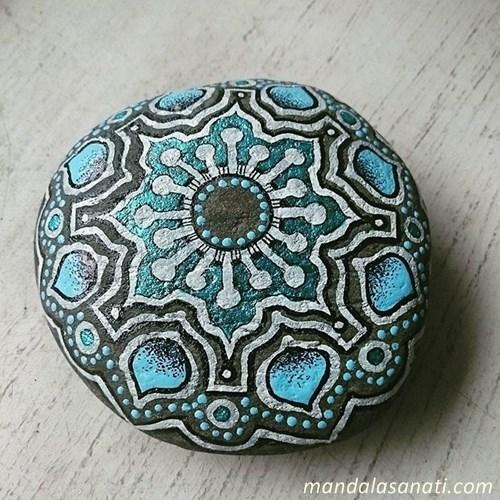 mavi renkli mandala