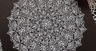 siyah beyaz mandala çizimi