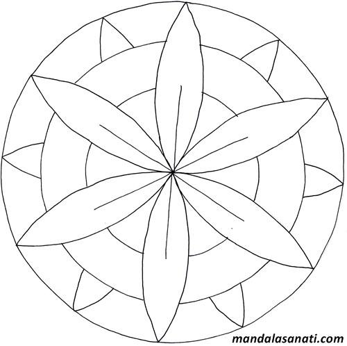 Okul öncesi Mandala Boyama Sayılı Motifler