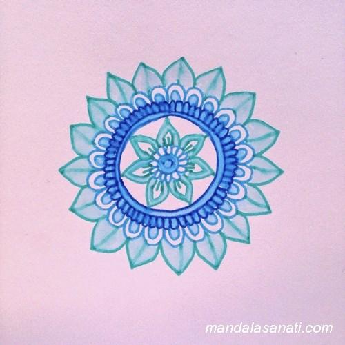 mandala boyama yapımı çalışması