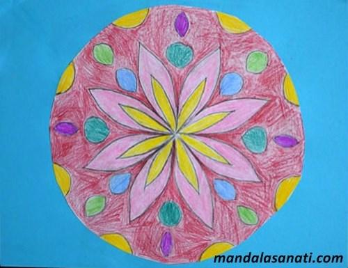 okul öncesi mandala boyama