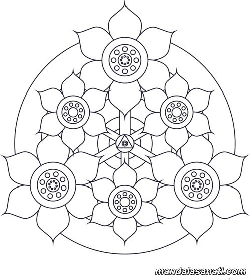 Free Heart Mandala Coloring Pages