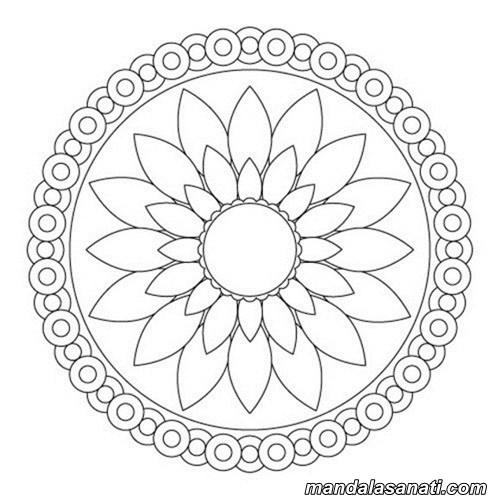Kolay Mandala örnekleri Yeni Başlayanlar Için