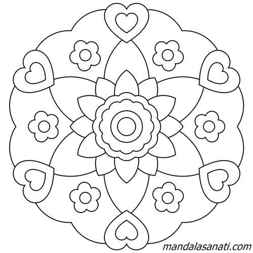 çocuklar için mandala çiçek