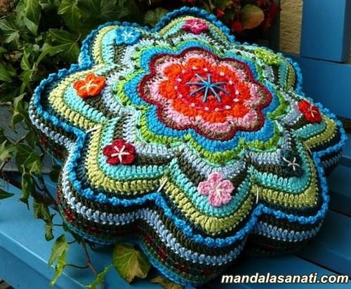 örgü mandala yapımı tığ işi motifler