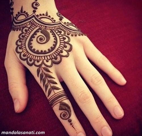 Hint Knas Dvme Desenleri Mandala Motifleri Gzel