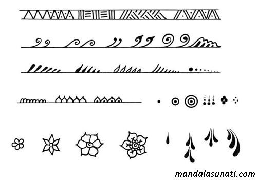 Hint kınası ile dövme motifleri