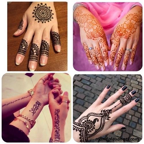 Hint kınası ile renkli dövme