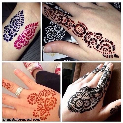 Hint kınası ile renkli dövme nasıl yapılır?