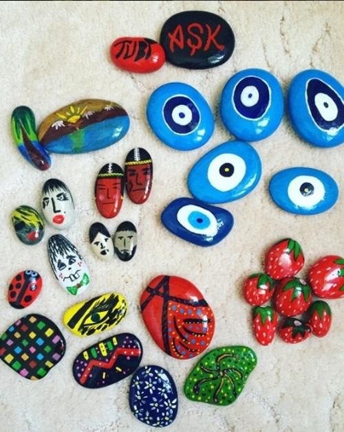 çakıl Taşı Boyama Sanatı Tuğba özayın 14 çalışması