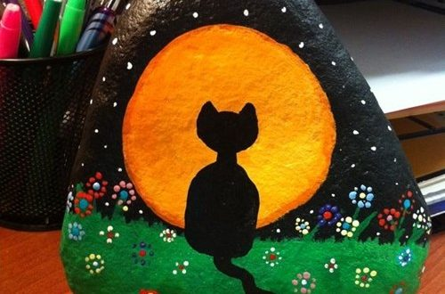 taşa kedi nasıl çizilir ve boyanır evde? taş boyama kedi