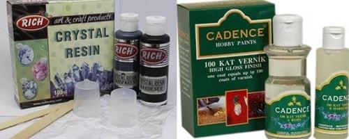 Kristal reçine markaları