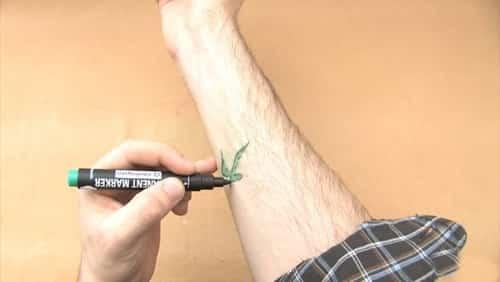 Geçici dövme kalemi