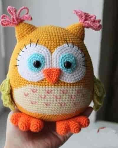 Amigurumi oyuncak baykuş