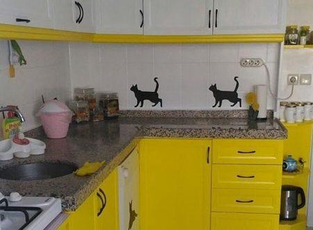 Eski mutfak dolabı boyama teknikleri
