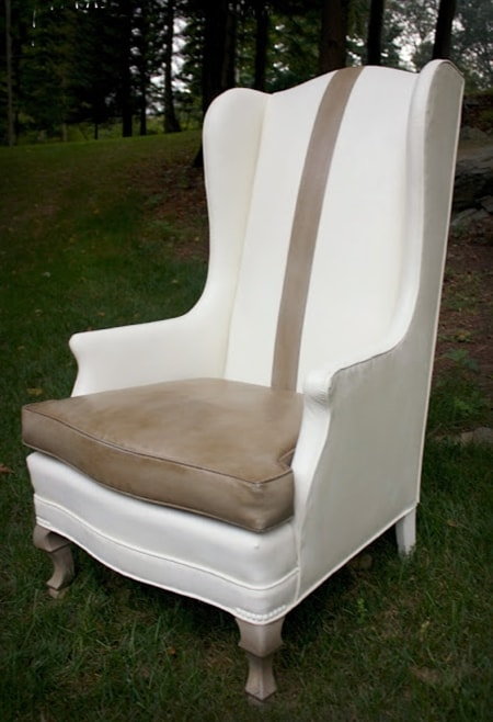 Beyaz deri koltuk boyama