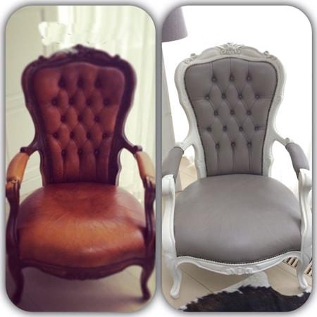 Deri koltuk boyama örnekleri