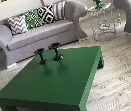 Evde ahşap sehpa boyama örnekleri