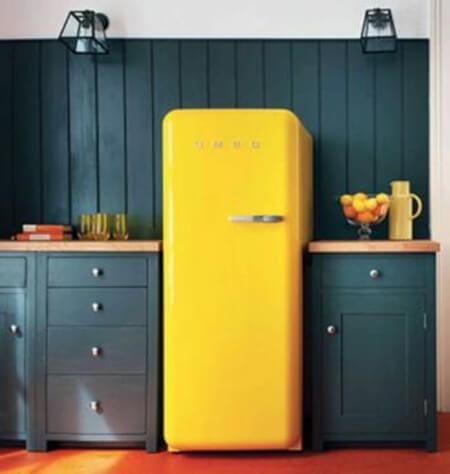 Eski buzdolabı boyama