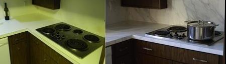 Eski mutfak tezgahı yenileme