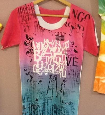 Tişört boyama desenleri ve modelleri