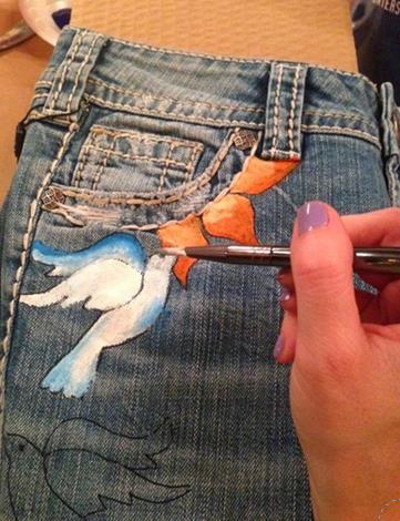 Pantolon boyama evde