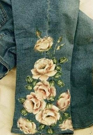 Pantolon paçası süsleme