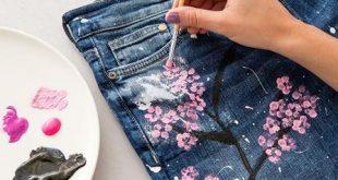 Pantolon boyama ve süsleme nasıl yapılır?