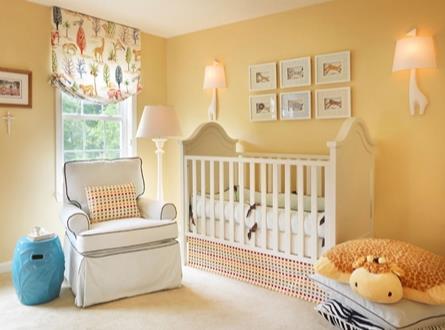 Bebek odası duvar renk seçimi