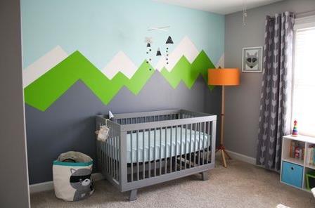 Bebek odası için sağlıklı duvar boyası