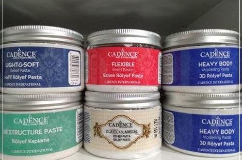 Cadence rölyef pasta nasıl kullanılır?